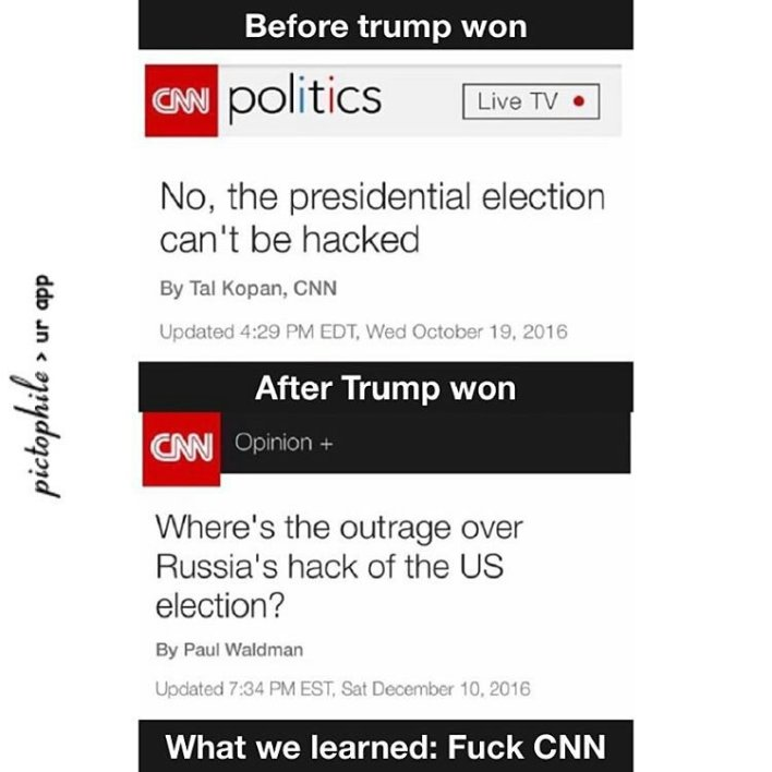 The election can't be hacked vs. Where's the outrage about hacking?
